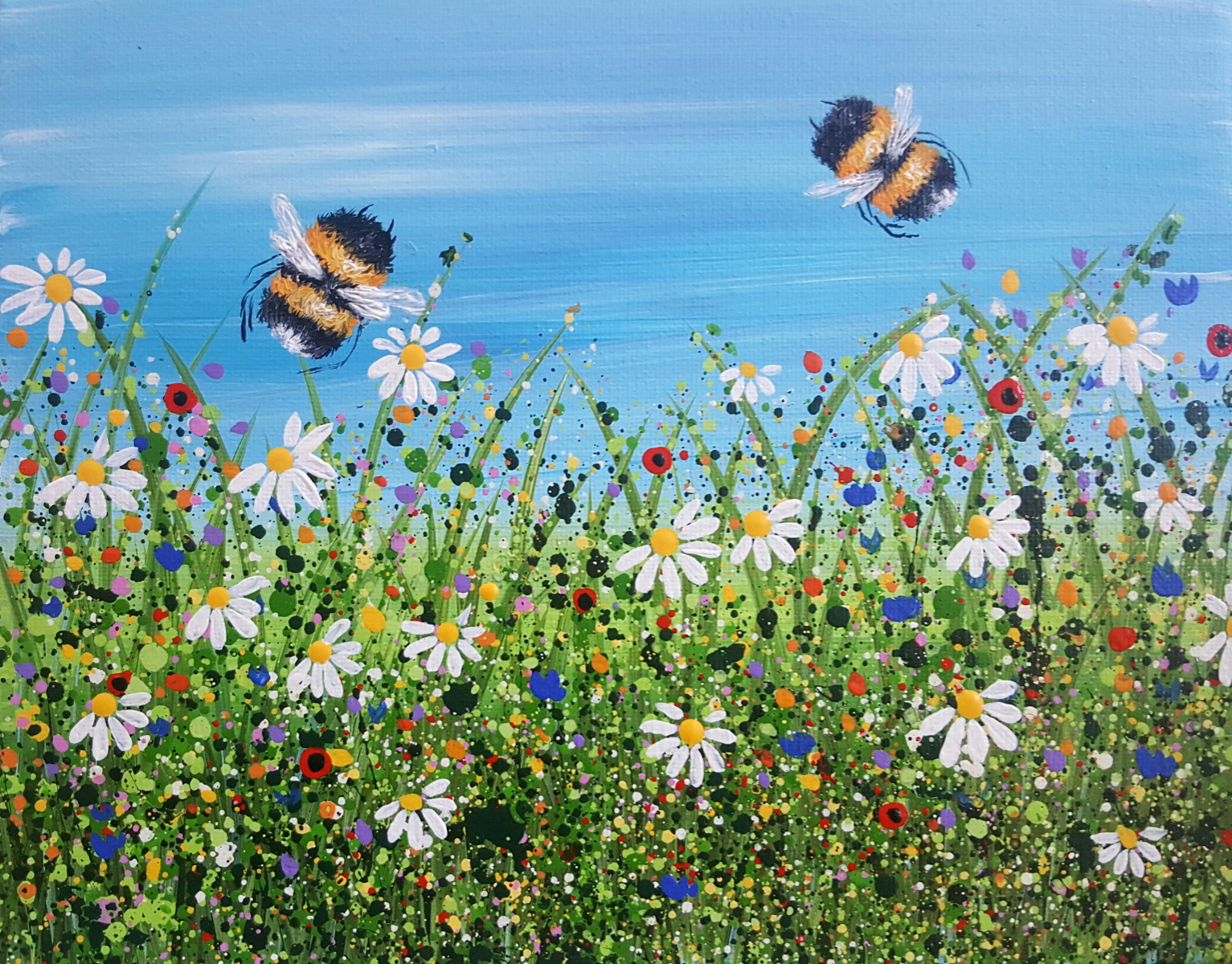 Bumble Bee & Daisies #2